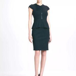 Elie Tahari Black Peplum Dress Size 0 Lanetta